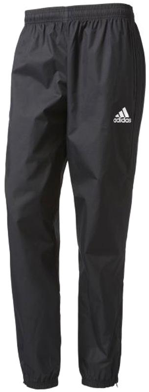 Брюки спортивные мужские Adidas Tiro17 RN PNT, цвет: черный. AY2896. Размер XXL (60/62)AY2896Мужские спортивные брюки Adidas Tiro17 RN PNT выполнены из 100% полиэстера. Модель прямого кроя с эластичным поясом. По бокам предусмотрены втачные карманы. Низ брючин дополнен молниями.