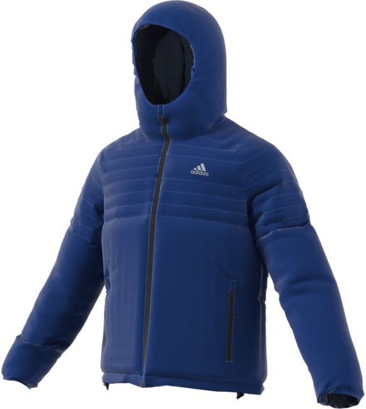 Куртка мужская Adidas Cytins HO J, цвет: синий. BQ2015. Размер S (44/46)BQ2015Утепленная мужская куртка Adidas Cytins отлично согревает благодаря функциональному синтетическому утеплителю и обеспечит вам комфорт во время активного отдыха в холодную погоду.Модель прямого кроя с застежкой на молнию и рукавами-реглан оснащена фиксированным капюшоном. Куртка дополнена двумя боковыми карманами с застежкой на молнию и отверстиями для провода наушников. По низу изделия предусмотрена резинка в кулиске. Также модель имеет внутренний штормовой клапан и светоотражающие элементы для безопасности в темное время суток.