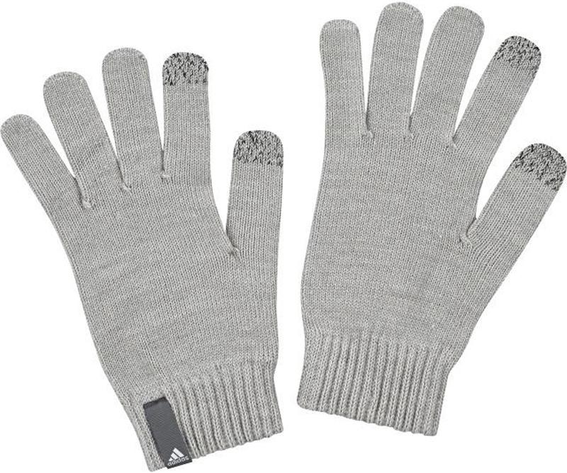 Перчатки Adidas Perf Gloves Con, цвет: серый. BP5348. Размер S (18)BP5348Теплые вязаные перчатки Adidas станут великолепным дополнением вашего образа и защитят ваши руки от холода и ветра. Перчатки надежно сохраняют тепло и обеспечивают удобство и комфорт при носке, так как оснащены кондуктивными кончиками пальцев для сенсорного экрана. Такие перчатки будут оригинальным завершающим штрихом в создании современного модного образа, они подчеркнут ваш изысканный вкус и станут незаменимым и практичным аксессуаром.