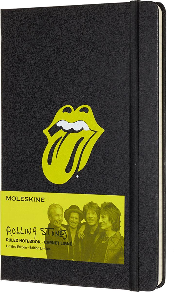 Moleskine Записная книжка Rolling Stones Large 120 листов в линейку цвет черный485764Культовая, мятежная группа, которая нашла в себе смелость задать скандально новый тон для целого поколения. Rolling Stones - это живая легенда, ставящая под сомнение любые категории и определения.Записная книжка Moleskine серии Rolling Stones Limited Edition посвящена знаменитой музыкальной группе, которая стала символом не только нового музыкального жанра, но и сформировала стиль жизни целого поколения.Обложка записной книжки содержит легендарную эмблему группы со знаменитым языком, а фактура из искусственной кожи вдохновлена экстравагантным гардеробом Мика Джаггера. Мгновенно узнаваемая, неподвластная времени, открытая для нестандартных мыслей и идей - ваша записная книжка Moleskine серии Rolling Stones.