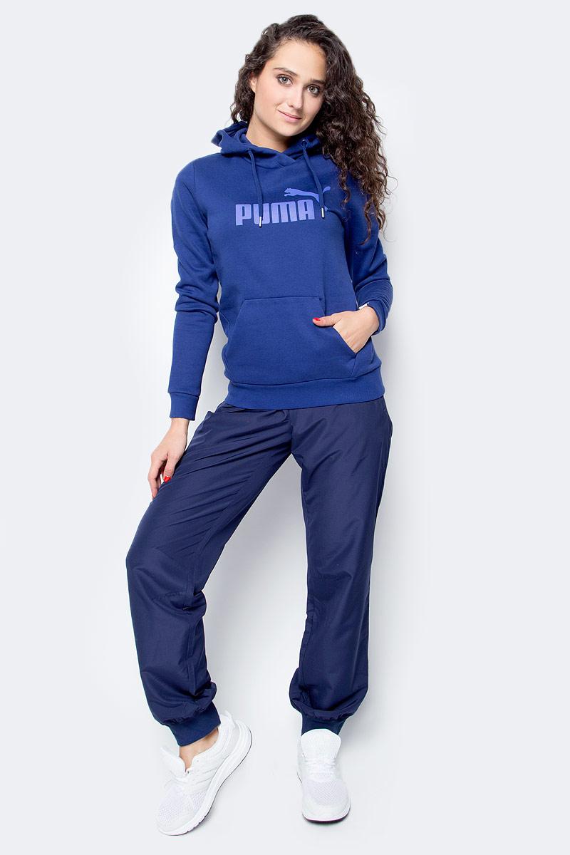 Толстовка женская Puma ESS No.1 Hoody Fl W, цвет: синий. 83840618. Размер M (44/46) толстовки puma толстовка ess collegiate fz hoody