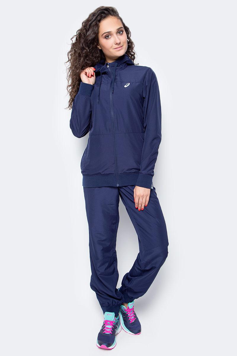 Костюм спортивный женский Asics Suit, цвет: темно-синий. 142916-0891. Размер L (48/50)142916-0891В костюме Asics Suit вы будете выглядеть стильно, а чувствовать себя невероятно комфортно. Материал гарантирует легкость движений, как при занятиях спортом, так и в повседневной носке. Ветровка с длинными рукавами застегивается спереди на молнию. Модель с капюшоном дополнена двумя прорезными карманами спереди. Манжеты дополнены широкой эластичной резинкой. Спортивные брюки имеют широкую эластичную резинку на поясе.