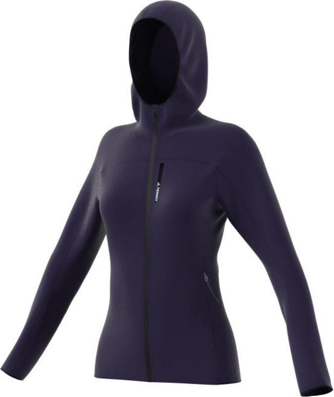 Толстовка женская Adidas W Tracero HO FL, цвет: темно-синий. BP9444. Размер 36 (44)BP9444Женская флисовая толстовка adidas W TERREX TraceRocker создана для комфорта движений и отличной вентиляции. Подкладка из материала с вафельной текстурой эффективно отводит излишки влаги и позволяет коже дышать. Благодаря приталенному крою и облегающему капюшону модель легко надевается под теплую куртку или жилет. Мягкий эластичный флис для полной свободы движений. Эта модель — часть экологической программы adidas: использованы технологии, сберегающие природные ресурсы; каждая нить имеет значение: переработанный полиэстер сохраняет природные ресурсы и уменьшает отходы производства.