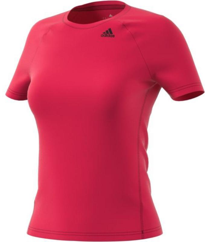 Футболка для фитнеса женская Adidas D2M Tee Solid, цвет: розовый. BQ5821. Размер XS (40/42)BQ5821Футболка для фитнеса Adidas D2m Tee Solid выполнена из ткани climalite. Модель приталенного кроя с круглым вырезом горловины и короткими рукавами-реглан. Футболка дополнена светоотражающим логотипом для лучшей видимости в темное время суток.