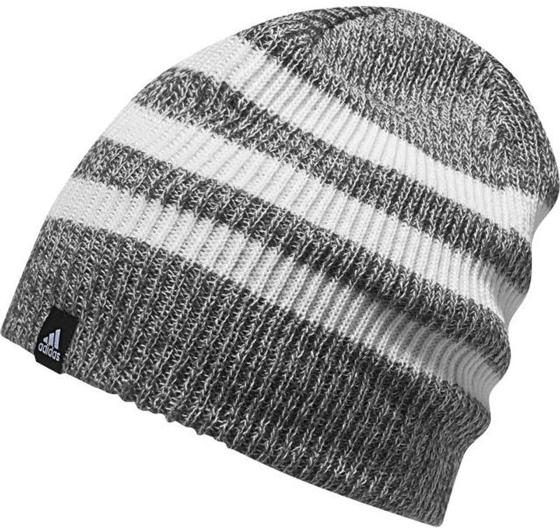 Шапка Adidas 3S Beanie, цвет: серый, белый. BR9931. Размер 54/55BR9931Стильная вязаная шапка от Adidas с меланжевым эффектом выполнена из полиакрила и оформлена тремя контрастными полосками. Такая шапка будет хорошо смотреться с любой верхней одеждой и позволит создать модный образ.