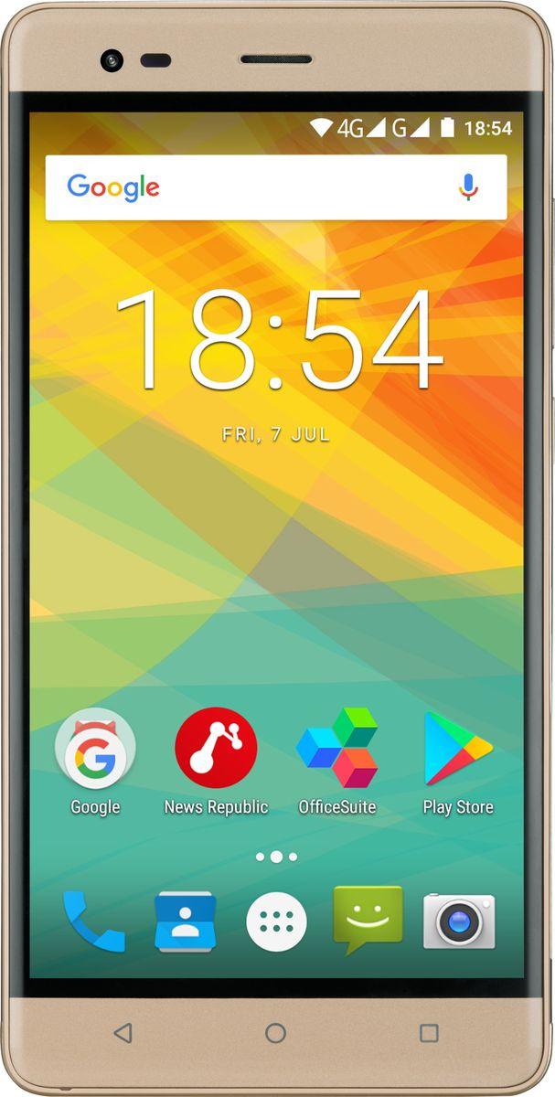 Prestigio Grace R5 LTE, GoldPSP5552DUOGOLDPrestigio Grace R5 LTE - красота в чистом виде! Вам понравятся изысканный тонкий металлический корпус, широкий 5,5-дюймовый IPS-экран и усовершенствованная 13,0-мегапиксельная камера. Но самое главное - с помощью этого устройства вы можете пользоваться молниеносной связью 4G!Смартфон имеет стильный современный дизайн. Тонкое 8,7-милиметровое устройство с металлическим корпусом и красивой расцветкой (выберите гламурный золотой или классический черный) подчеркнет ваш вкус.Grace R5 LTE поддерживает 4G-соединение, которое дает бесконечные возможности загрузки больших файлов за считанные секунды, стриминга со смартфона без подвисаний, игры в многопользовательские игры и серфинга быстрее, чем когда-либо прежде.С 5,5 дюймами вы всегда получите больше, чем ожидаете. Grace R5 LTE может заменить планшет или даже ноутбук для выполнения повседневных задач - серфинга в Интернете, работы с документами и развлечений. Разрешение HD 1280x720 и технология IPS позволяют отображать цвета с большой четкостью. Изогнутое 2,5D стекло обеспечивает красивый внешний вид и удобство использования.Станьте популярным пользователем Instagram или просто сохраняйте на память яркие моменты вашей жизни. Независимо от того, что вы снимаете - с качественной камерой 13,0 МП со светодиодной вспышкой ваши изображения будут выглядеть красиво, даже если они сняты ночью. Фронтальная камера на 2,0 МП предназначена для селфи и видеозвонков.Grace R5 LTE оснащен 64-битным четырехъядерным процессором, обеспечивающим высокую производительность, многозадачность и энергосбережение. Также, он работает на последней версии ОС Android - 7.0 Nougat, поэтому вы получите все возможности современного устройства.Чтобы испытать все преимущества мощной начинки и широкого экрана, вам понадобится огромный аккумулятор. И вы его получите! 3000 мАч обеспечивает долговечность работы без зарядки даже в суперактивном режиме использования.В качестве дополнительного бонуса - поддержка двух сим-ка