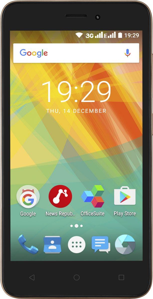 Prestigio Wize G3, GoldPSP3510DUOGOLDЕсли вы устали от скучных цветов, оцените новый смартфон Wize G3 от Prestigio! Яркие и выразительные цвета корпуса на выбор, широкий 5,0-дюймовый экран, надежная производительность и поддержка двух SIM-карт - все, о чем можно мечтать для вашего мобильного и яркого стиля жизни.Выберите цвет смартфона, который дополняет ваш стиль. Выразительный красный, ярко-синий, классический черный или гламурный золотой - вы обязательно найдете вариант, который идеально подойдет для вас.С 5,0-дюймовым дисплеем вы будете пользоваться всеми преимуществами широкого экрана. Получайте больше информации при поиске в Интернете; меньше скрольте экран при работе с документами; наслаждайтесь играми, фотографиями и видео. Что бы вы ни делали, вы расширите свои возможности.Благодаря 1 ГБ оперативной памяти и четырехъядерному процессору Wize G3 легко справится со всеми повседневными задачами. Читайте, работайте, играйте в игры, чатьтесь или смотрите видео без подвисаний и опробуйте режим многозадачности.Wize G3 работает на обновленной версии ОС Android: 6.0 Marshmallow. Вам понравится режим экономии заряда аккумулятора Doze, а также множество других современных функций. Эта версия Android также улучшает работу аппаратного обеспечения.Используйте камеру 5,0 МП для создания ярких и четких снимков днем и ночью. Светодиодная вспышка гарантирует, что вы получите качественные фотографии с вечеринок и ночных прогулок. Кроме того, 0,3 МП фронтальная камера может использоваться для видеозвонков вашим друзьям и родственникам, когда вы находитесь в отъезде.Экономьте деньги, используя две SIM-карты одновременно! Вы можете оставаться на связи со всеми контактами в своем списке и не носить с собой дополнительный телефон.Телефон сертифицирован EAC и имеет русифицированный интерфейс меню и Руководство пользователя.