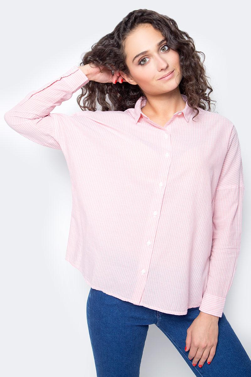Блузка женская Wrangler, цвет: розовый. W5219LUTU. Размер XL (48) блузка женская wrangler цвет черный w5180bd01 размер xs 42