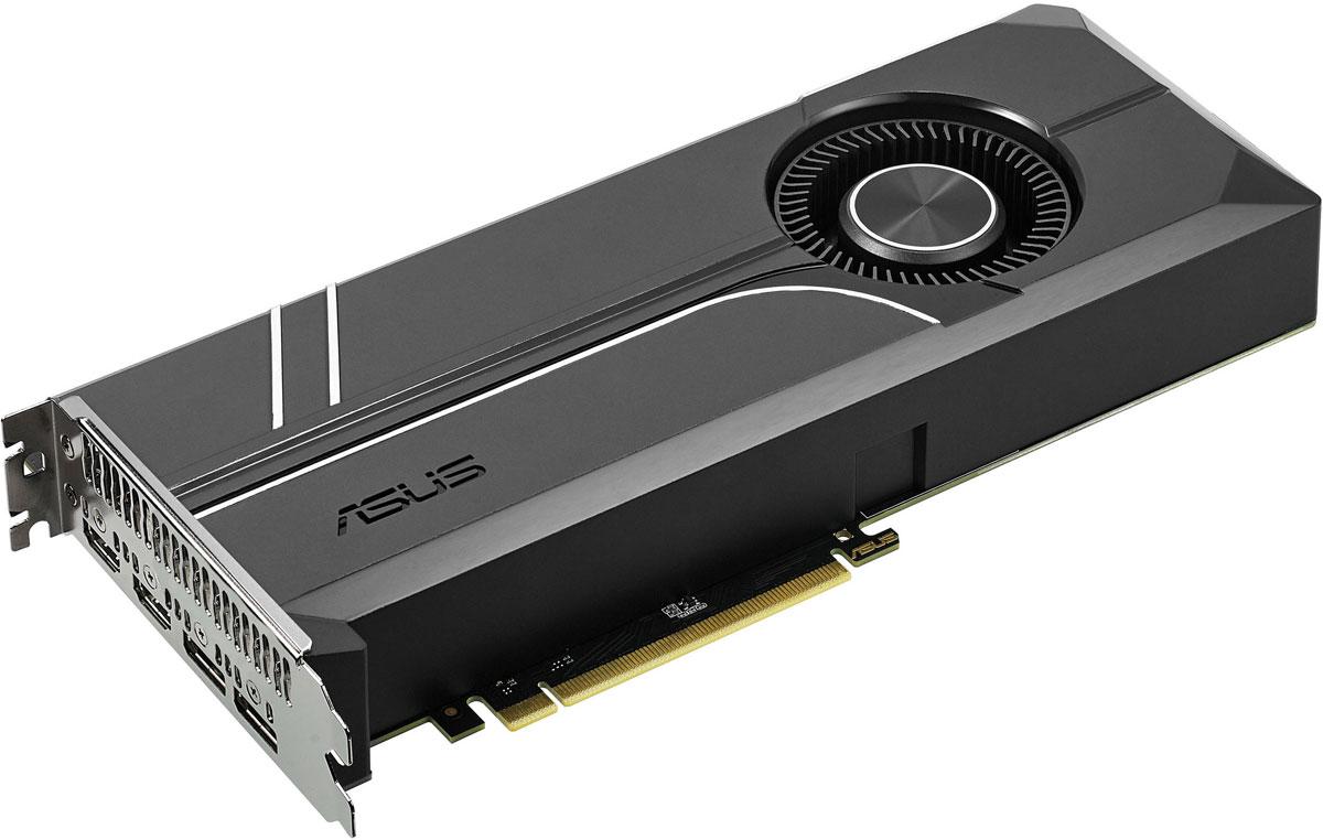 ASUS Turbo GeForce GTX 1080 Ti 11GB видеокартаTURBO-GTX1080TI-11GВидеокарта ASUS Turbo GeForce GTX 1080 Ti - это геймерская модель, оснащенная множеством эксклюзивных технологий ASUS. Используемая на ней система охлаждения может похвастать увеличенным сроком службы за счет вентилятора с двойным шарикоподшипником, а безупречная надежность устройства обеспечивается полностью автоматизированным процессом производства (технология Auto-Extreme).Настраиваемый логотип с подсветкой поможет персонализировать внешний вид устройства, в то время как совместимые с VR-устройствами порты HDMI подарят геймерам возможность окунуться в захватывающий мир виртуальной реальности. В комплект поставки ASUS Turbo GTX 1080 Ti входят утилиты GPU Tweak II (для настройки и мониторинга параметров видеокарты) и XSplit Gamecaster (для записи и трансляции процесса игры в режиме реального времени).Вентилятор с двойным шарикоподшипником, использующийся в кулере видеокарты ASUS Turbo GTX 1080 Ti, обладает в несколько раз большим сроком службы, чем традиционные вентиляторы с подшипниками скольжения.В современных видеокартах ASUS применяются отборные компоненты (технология Super Alloy Power II), которые обладают непревзойденной энергоэффективностью, пониженной рабочей температурой и улучшенными характеристиками. Высокому качеству готового устройства также способствует полностью автоматизированный процесс производства (технология Auto-Extreme).Видеокарта ASUS Turbo GTX 1080 Ti наделена двумя разъемами HDMI, что позволяет одновременно подключить и стандартный монитор, и систему виртуальной реальности.Подсвечиваемый логотип на корпусе ASUS Turbo GTX 1080 Ti по умолчанию отображает название компании-производителя устройства, однако пользователь может заменить его своим собственным.В комплект поставки современных видеокарт ASUS входит эксклюзивная утилита GPU Tweak, с помощью которой можно получить полный контроль над графической подсистемой компьютера: изменять частоты и напряжения, настраивать работу вент