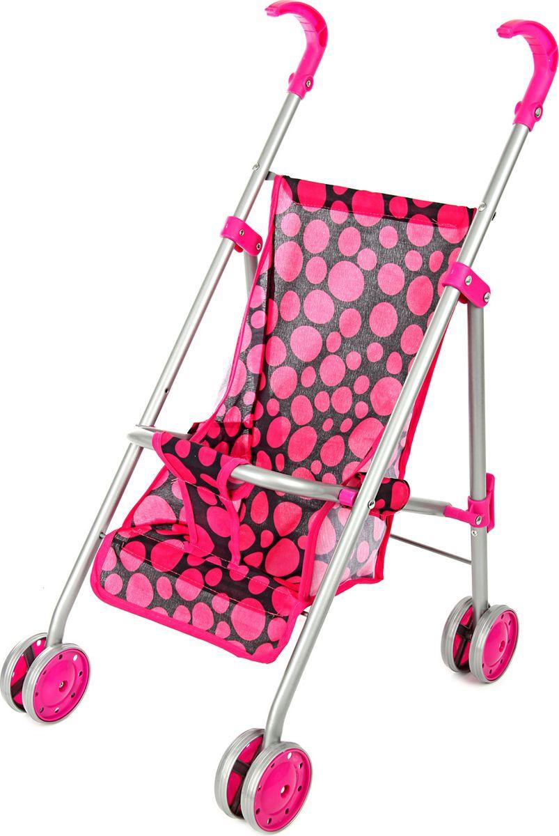 Ami&Co Коляска для кукол цвет малиновый черный 58038 коляска для кукол 27х45х54 см amico