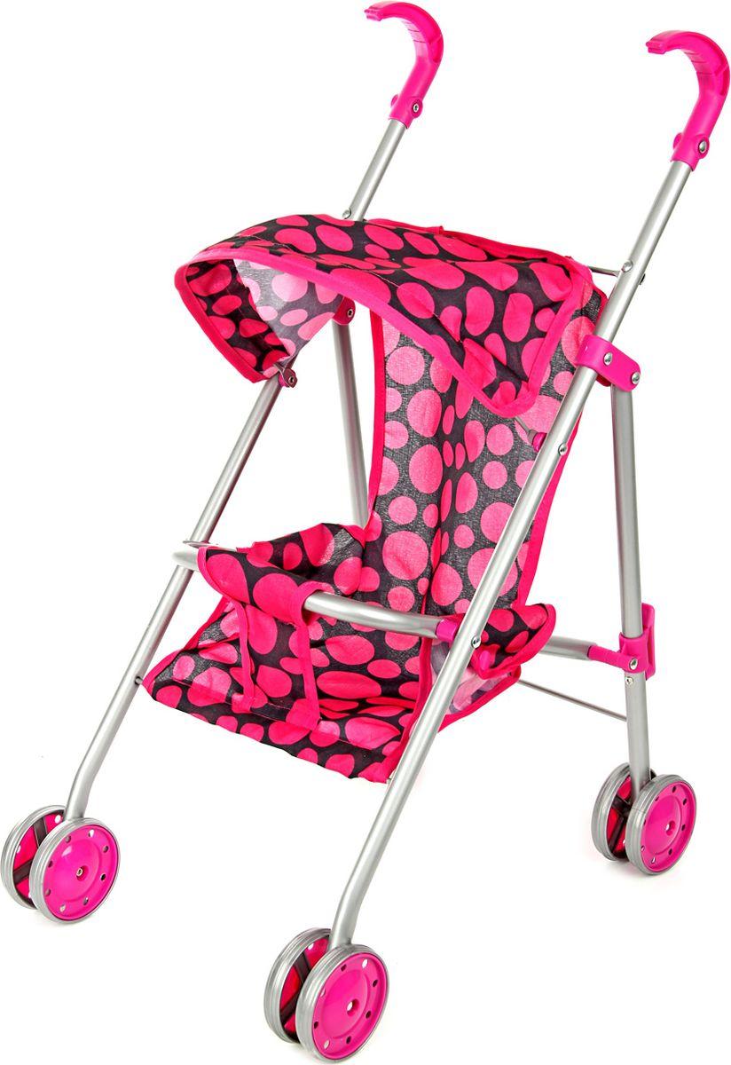 Ami&Co Коляска для кукол цвет малиновый, черный 58039 коляска для кукол 27х45х54 см amico