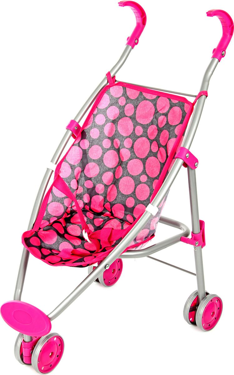 Ami&Co Коляска для кукол цвет малиновый черный 58965 коляска для кукол 27х45х54 см amico
