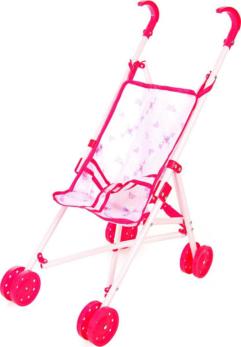Ami&Co Коляска для кукол цвет розовый 58970 коляска для кукол 27х45х54 см amico