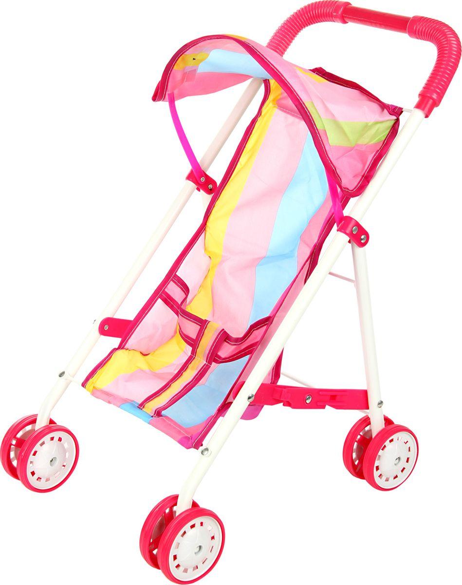 Ami&Co Коляска для кукол цвет розовый голубой желтый 58975 коляска для кукол 27х45х54 см amico