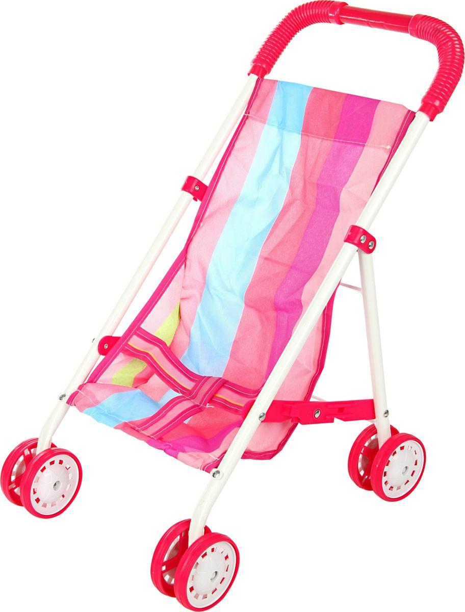 Ami&Co Коляска для кукол цвет розовый малиновый голубой 58976 коляска для кукол 27х45х54 см amico