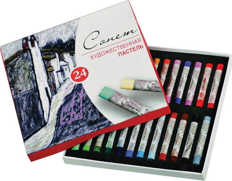 ЗХК Пастель художественная Сонет 24 цвета карандаши восковые мелки пастель сонет пастель художественная 48 цветов