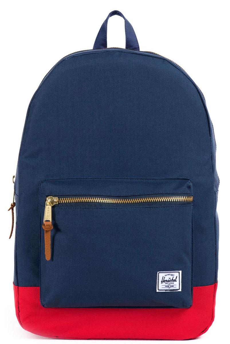 Рюкзак городской Herschel Settlement (A/S), цвет: темно-синий, красный. 828432005369 рюкзак городской herschel lawson apex knit mdvl blue