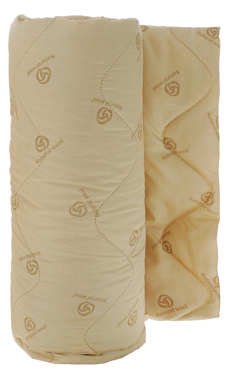 """Одеяло Подушкино """"Овечье"""" окутает вас своим теплом и нежностью. Чехол  одеяла изготовлен из ткани нового поколения Биософт (полиэстер) с тиснением  и бархатистой фактурой. Данный материал обладает повышенной  износостойкостью и практичностью.  Внутри - наполнитель из шерсти и вискозы. Натуральная шерсть стимулирует  кровообращение и облегчает мышечные боли. Отличная терморегуляция, которая  обеспечивает здоровый и комфортный сон. Материал чехла: биософт (100% полиэстер).  Материал наполнителя: 40% шерсть, 60% вискоза.  Рекомендации по уходу: - Ручная стирка при температуре 30°С.  - Не гладить. - Не отбеливать.  - Сушить при низкой температуре.  - Химчистка.  УВАЖАЕМЫЕ КЛИЕНТЫ! Обращаем ваше внимание на ассортимент в цветовом дизайне товара.  Поставка осуществляется в зависимости от наличия на складе."""
