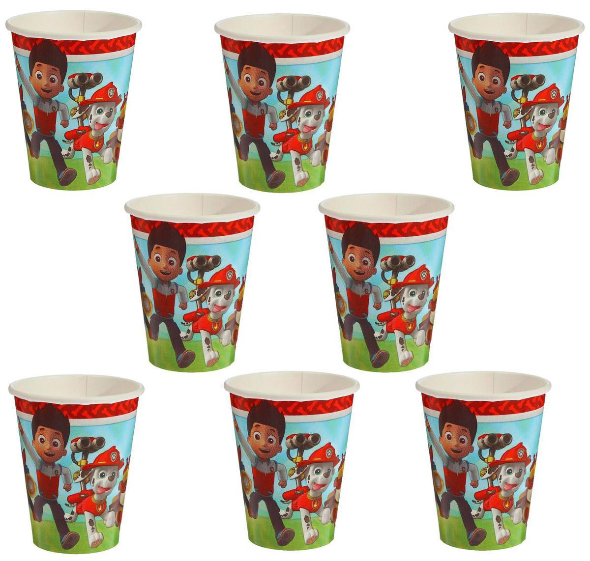 """Удобные и практичные одноразовые стаканы """"Amscan"""" созданы специально для детского праздника: они ярко украсят стол и привлекут внимание всех участников торжества. Бумажные стаканы прекрасно удерживают напитки, почти невесомы, не могут разбиться, их не надо мыть.В наборе восемь бумажных стаканов объемом 270 мл."""