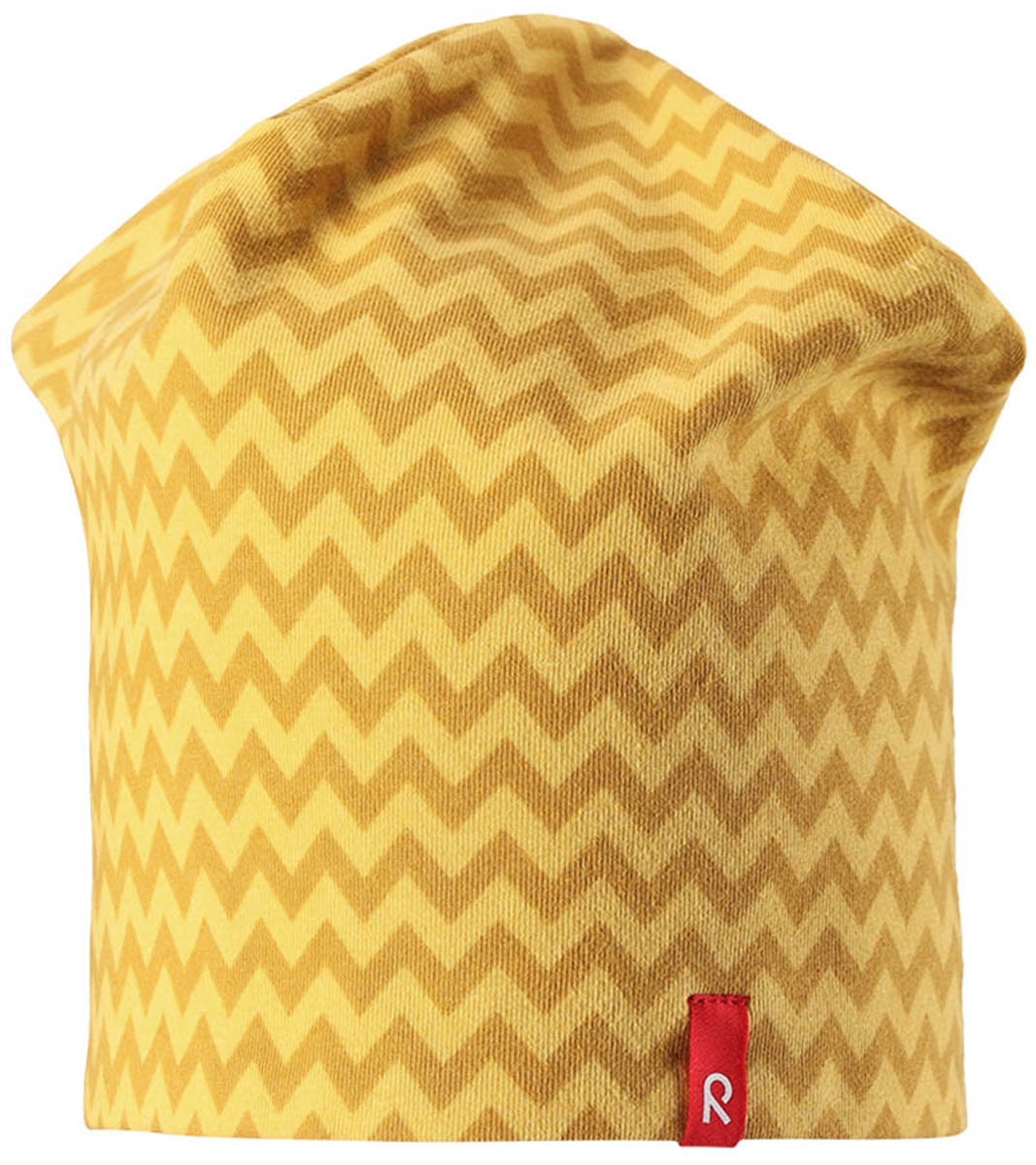 Шапка-бини детская Reima Hirvi, цвет: желтый. 5285392392. Размер 545285392392Легкая двусторонняя шапка Reima для малышей и детей постарше с УФ-защитой 40+. Шапка изготовлена из дышащего и быстросохнущего материла Play Jersey, эффективно выводящего влагу с кожи. Озорная двухсторонняя шапка меняет цвет в одно мгновение! Обратная сторона шапки серая.