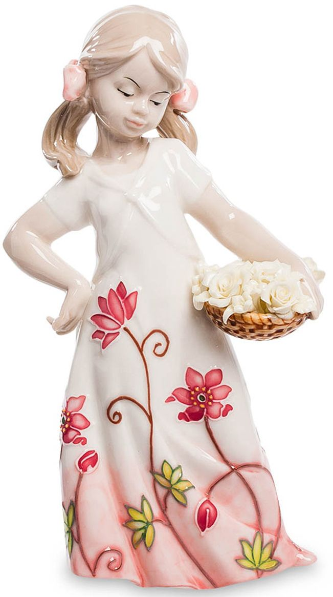Статуэтка Pavone Девочка, белый, розовый. JP-764/17 jp 156 4 фигурка кот pavone 782743