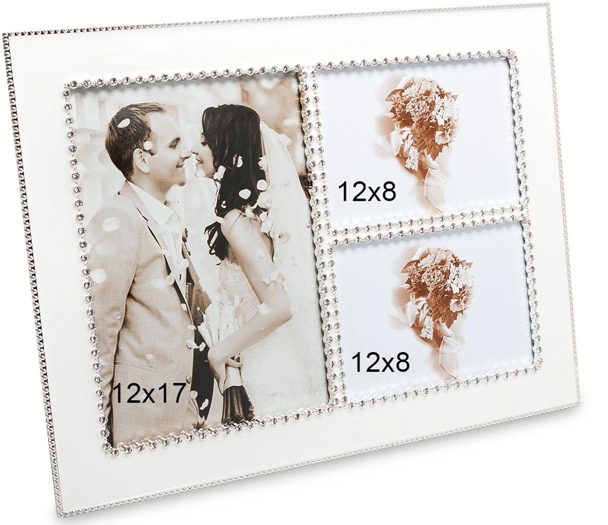 Фоторамка Bellezza Casa Мгновения любви, на 3 фото: 12х17, 12х8. CHK-181CHK-181Фоторамка на 3 фото для фотографий 12х17 и 12х8 см.Кто не вспоминает с нежностью свою историю любви, первое знакомство, романтические прогулки, пышность свадьбы, какие-то совершенно особенные моменты? Каждый хранит их где-то в самом теплом уголке сердца, и иногда бережно вынимает оттуда, чтобы еще раз почувствовать те невероятные ощущения. Рамка на три фото, созданная из серебристого металла, позволит чаще окунаться в романтический мир своих воспоминаний, если самые приятные моменты стали кадрами фотопленки. Теперь можно смотреть на них чаще и невольно улыбаться, вспоминая свою необычайную историю любви.