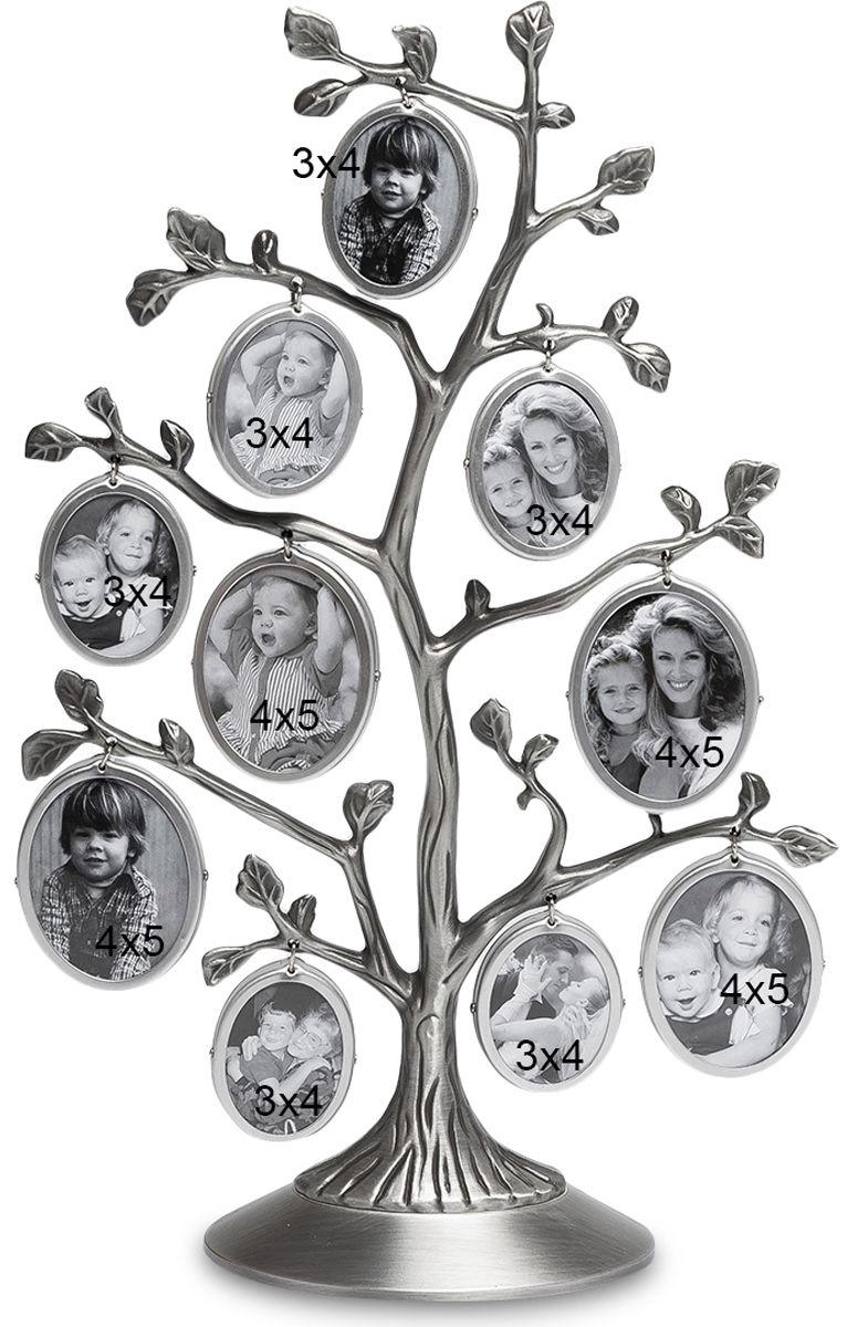 Фоторамка Bellezza Casa Семейное Дерево, на 10 фото: 4 х 5, 3 х 4 см. CHK-095CHK-095Фоторамка Дерево на 10 фото для фотографий 4 х 5 и 3 х 4 см.Фоторамка Семейное Дерево - это превосходный подарок как для всей семьи, так и для одного человека. Представьте, в эту рамку вы можете вставить 10 небольших фотографий, которые будут отображать разные моменты вашей жизни! Вы можете вставить туда фотографию своего ребенка, и добавлять их по мере того, как он будет расти. В итоге, когда ребенок вырастет, у вас будет целое дерево фотографий, где будут запечатлены все его этапы взросления! Фоторамка изготовлена из металла, поэтому она прослужит вам долгую жизнь, и с ней, как и со снимками, ничего не случится.