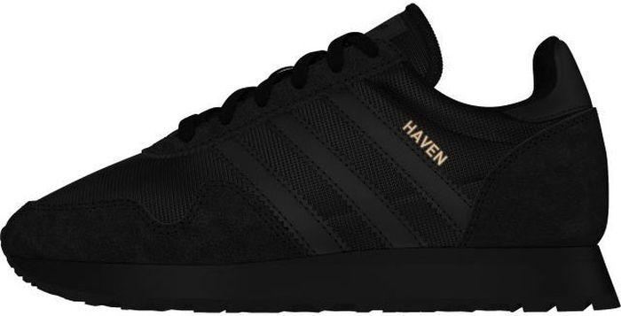 Кроссовки для мальчика Adidas Originals Haven J, цвет: черный. CM8023. Размер 3 (35)CM8023Стильные кроссовки adidas Originals Haven J выполнены из текстиля со вставками из премиальной замши. Идеально подходят для повседневной носки. Подкладка и стелька из текстиля гарантируют комфорт при носке. Гибкая и легкая подошва долговечна и обеспечивает высокую устойчивость к деформациям.