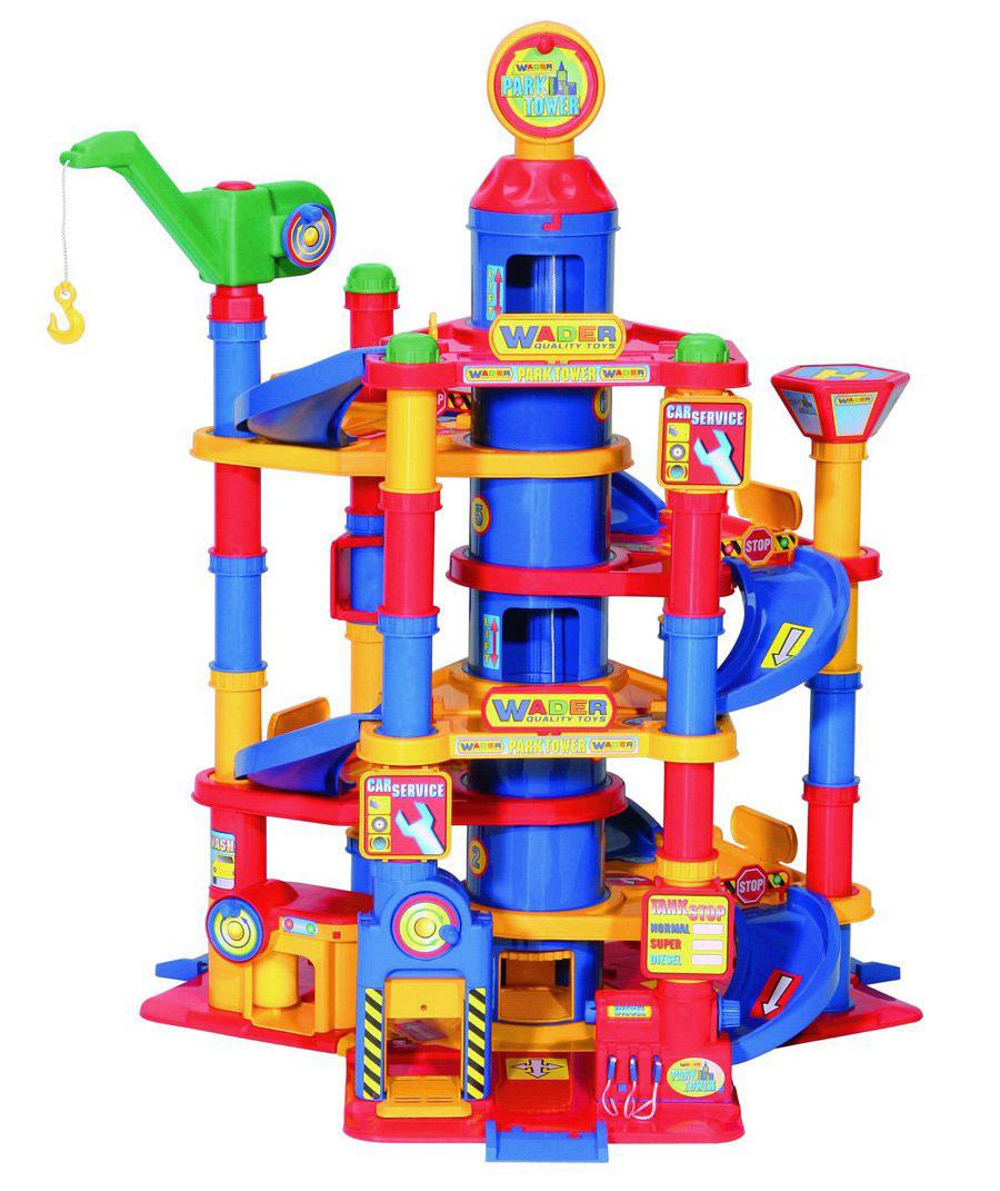 Полесье Парковка 7 уровней с автомобилями motormax игрушечный трек мини заправочная станция