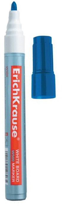 Erich Krause Маркер для доски W500 цвет синий150448Маркер для доски Erich Krause W500 с закругленным наконечником для письма на маркерных досках. Чернила быстро высыхают и при необходимости легко стираются губкой. Хранить горизонтально.