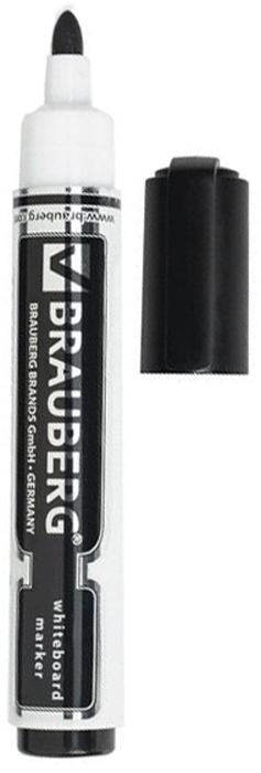 Brauberg Маркер для доски Neo цвет черный150487Высококачественный маркер для белой маркерной доски. Не высыхает с открытым колпачком в течение нескольких дней.