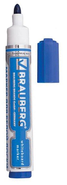 Brauberg Маркер для доски Neo цвет синий1280357Высококачественный маркер для белой маркерной доски. Не высыхает с открытым колпачком в течение нескольких дней.
