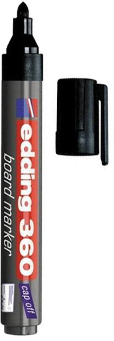 Edding Маркер для доски цвет черный150716Маркер для белых маркерных досок Edding прекрасно подходит для проведения презентаций, уроков и разнообразных мероприятий. Стирается сухой губкой.