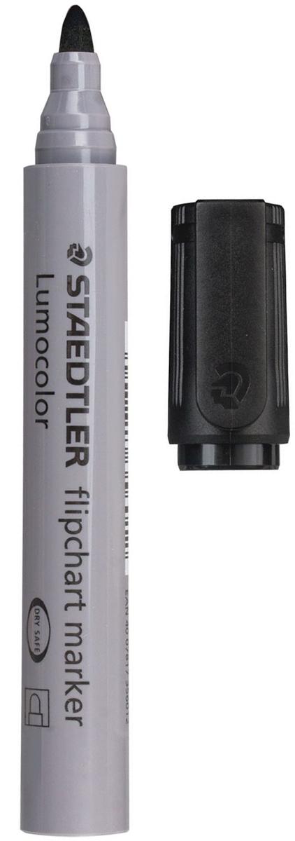 Staedtler Маркер для флипчарта Lumocolor цвет черный 356-9150756Чернила на водной основе с нейтральным запахом не пропитывают бумагу, поэтому не пачкают нижележащие листы. Главным образом применяются для письма на бумажных блокнотах для флипчартов и других листах бумаги, используются для проведения презентаций.