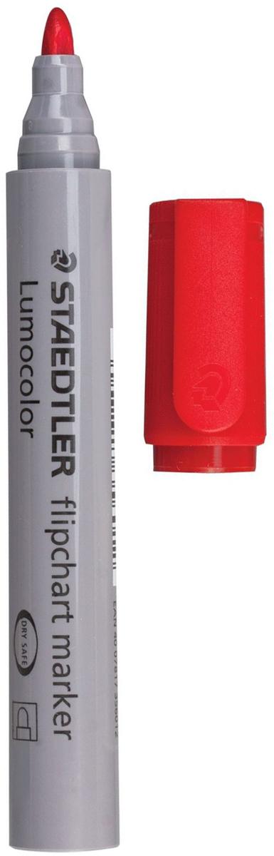 Staedtler Маркер для флипчарта Lumocolor цвет красный 356-2150757Чернила на водной основе с нейтральным запахом не пропитывают бумагу, поэтому не пачкают нижележащие листы. Главным образом применяются для письма на бумажных блокнотах для флипчартов и других листах бумаги, используются для проведения презентаций.