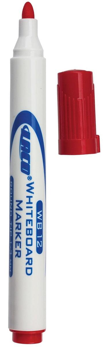 Laco Маркер для доски цвет красный150824Высококачественный маркер  Laco для магнитно-маркерной доски в пластиковом корпусе с защитным колпачком. Не высыхает с открытым колпачком в течение нескольких дней. Чернила стираются сухой губкой.