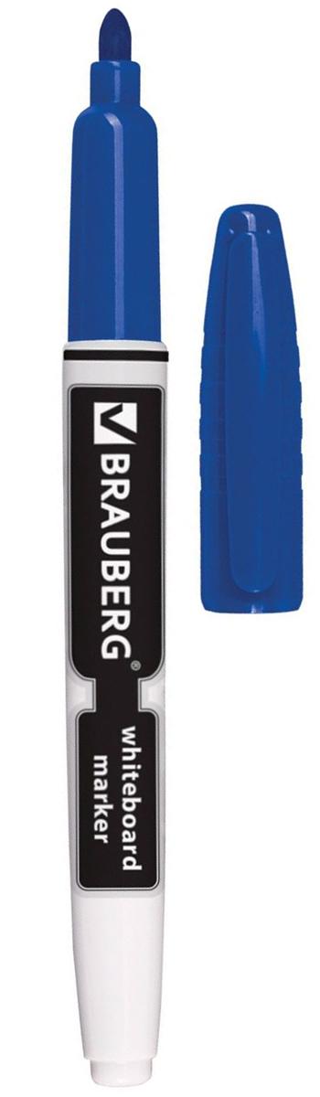 Brauberg Маркер для доски цвет синий150847Высококачественный маркер для белой маркерной доски. Не высыхает с открытым колпачком в течение нескольких дней.