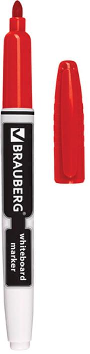 Brauberg Маркер для доски цвет красный150848Высококачественный маркер для белой маркерной доски. Не высыхает с открытым колпачком в течение нескольких дней.