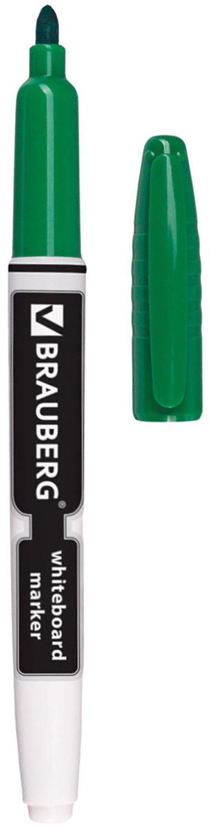 Brauberg Маркер для доски цвет зеленый150849Высококачественный маркер для белой маркерной доски. Не высыхает с открытым колпачком в течение нескольких дней.