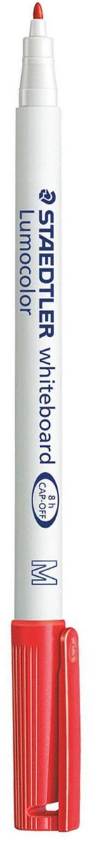 Staedtler Маркер для доски Lumocolor цвет красный 301-2150963Высококачественный маркер для белой магнитно-маркерной доски. Не высыхает с открытым колпачком в течение нескольких дней. Чернила легко стираются с доски стирателем для магнитно-маркерной доски. Даже при сильном нажатии пишущий узел остается на месте.
