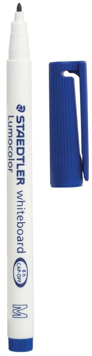 Staedtler Маркер для доски Lumocolor цвет синий 301-3150964Высококачественный маркер для белой магнитно-маркерной доски. Не высыхает с открытым колпачком в течение нескольких дней. Чернила легко стираются с доски стирателем для магнитно-маркерной доски. Даже при сильном нажатии пишущий узел остается на месте.