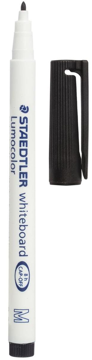 Staedtler Маркер для доски Lumocolor цвет черный 301-9150966Высококачественный маркер для белой магнитно-маркерной доски. Не высыхает с открытым колпачком в течение нескольких дней. Чернила легко стираются с доски стирателем для магнитно-маркерной доски. Даже при сильном нажатии пишущий узел остается на месте.