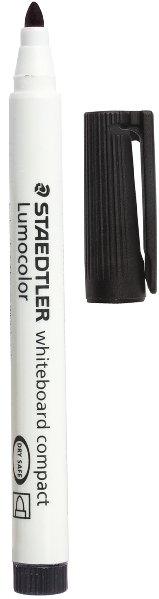 Staedtler Маркер для доски Lumocolor цвет черный 341-9151002Высококачественный маркер для белой магнитно-маркерной доски. Не высыхает с открытым колпачком в течение нескольких дней. Чернила легко стираются с доски стирателем для магнитно-маркерной доски. Даже при сильном нажатии пишущий узел остается на месте.