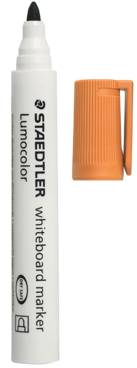 Staedtler Маркер для доски Lumocolor цвет оранжевый 351-4151012Высококачественный маркер для белой магнитно-маркерной доски. Не высыхает с открытым колпачком в течение нескольких дней. Чернила легко стираются с доски стирателем для магнитно-маркерной доски. Даже при сильном нажатии пишущий узел остается на месте.