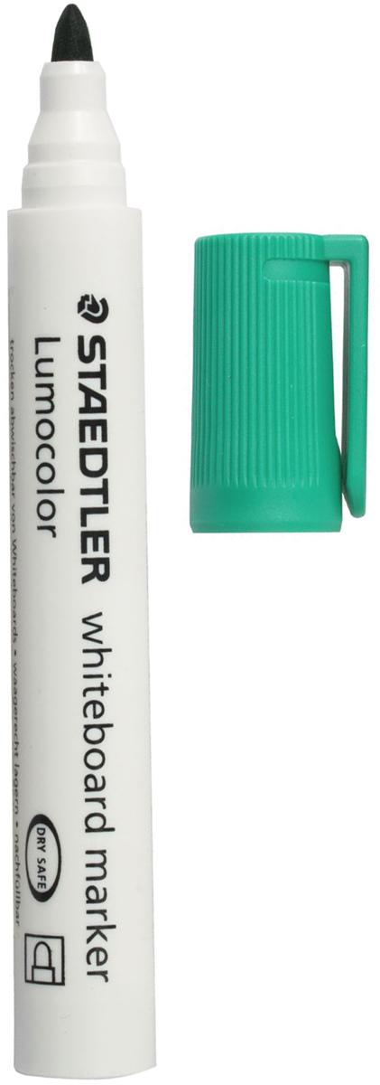 Staedtler Маркер для доски Lumocolor цвет зеленый 351-5151013Высококачественный маркер для белой магнитно-маркерной доски. Не высыхает с открытым колпачком в течение нескольких дней. Чернила легко стираются с доски стирателем для магнитно-маркерной доски. Даже при сильном нажатии пишущий узел остается на месте.
