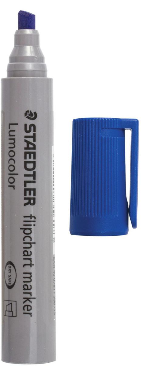Staedtler Маркер для флипчарта Lumocolor цвет синий 356 B-3151020Чернила на водной основе с нейтральным запахом не пропитывают бумагу, поэтому не пачкают нижележащие листы. Главным образом применяются для письма на бумажных блокнотах для флипчартов и других листах бумаги, используются для проведения презентаций.