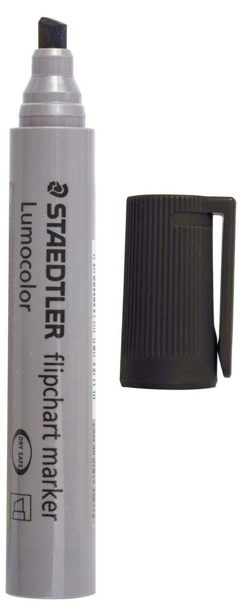 Staedtler Маркер для флипчарта Lumocolor цвет черный 356B-9151021Маркер для флипчарта предназначен для письма на бумажной доске или бумаге. Чернила без запаха имеют водную основу, на бумаге не расплываются и не просачиваются сквозь неё. Открытый маркер не высыхает в течение одной недели.