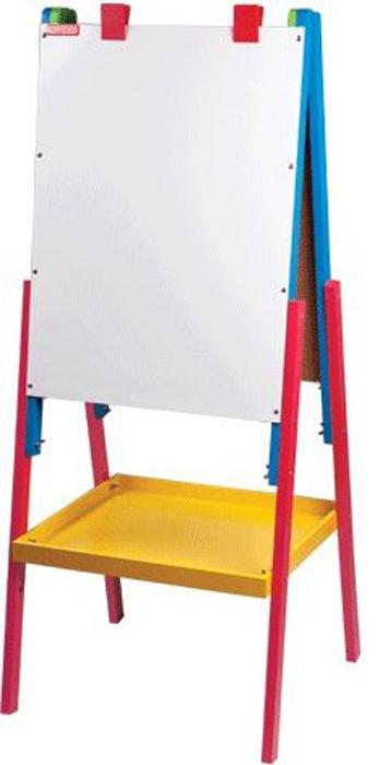 Пифагор Доска-мольберт магнитно-маркерная и меловая 45 х 60 см231997Предназначена для учебы и творчества. Легко перемещается и дает возможность регулировать высоту стенда. Разные материалы рабочих поверхностей позволяют писать на доске маркерами или мелом. Зажимы используются для крепления рисунков.