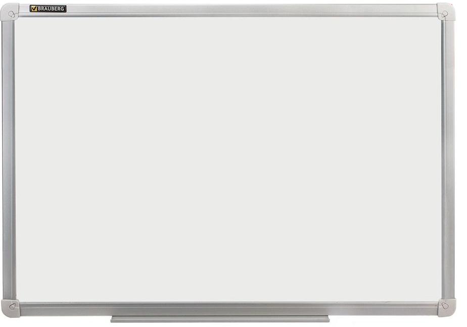 Brauberg Доска магнитно-маркерная 100 х 150 см235523Доска идеально подойдет для проведения тренингов, совещаний и презентаций. Лаковое покрытие предназначено для письма специальными маркерами для белой доски, а металлическая поверхность позволяет размещать объявления при помощи магнитов.