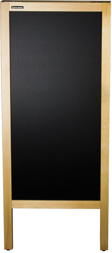Brauberg Доска-штендер магнитно-маркерная и меловая 45 х 104 см 236156236156Доска-штендер для размещения рекламы и информации. Используется в кафе и ресторанах. 2 рабочие поверхности: черная - для письма мелом, белая металлическая - для письма специальными маркерами для белой доски и крепления объявлений с помощью магнитов.
